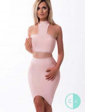 Apricot Bandage Co-ord scoop skirt