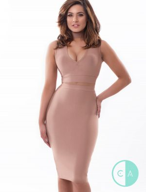 Nude brown co ord - Keyhole