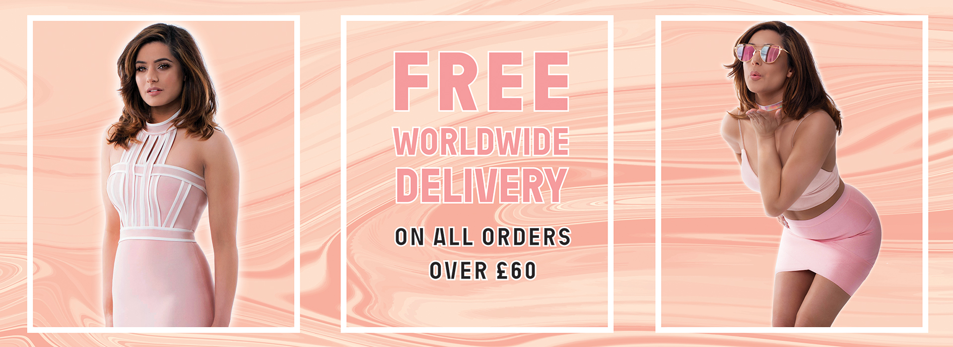 free worldwide delivery on orders over £60