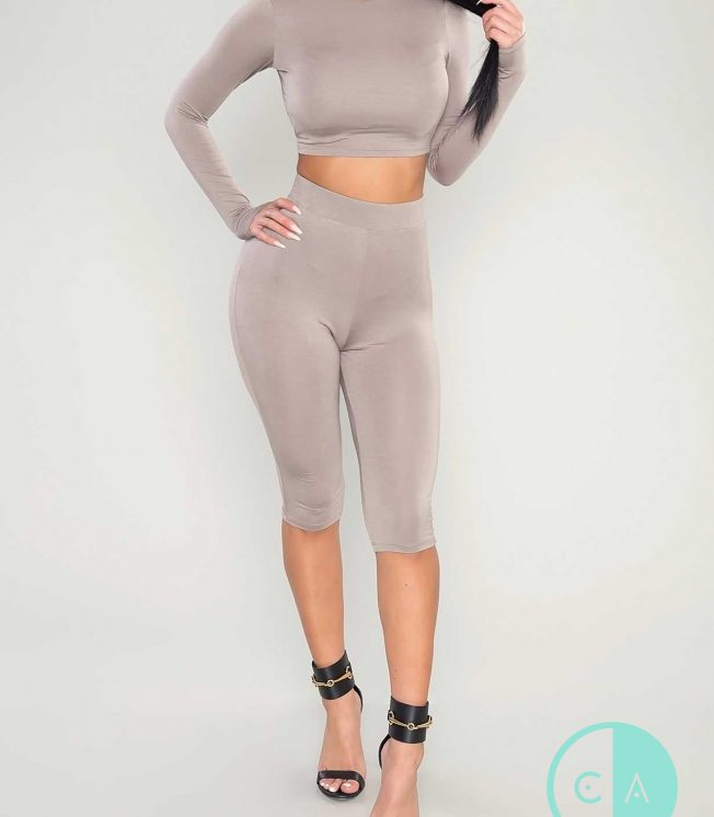Kylie 2 piece leggins and crop top set